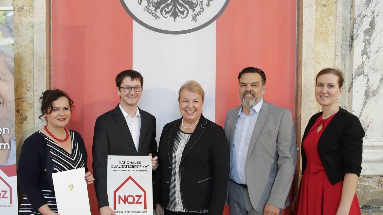 Haus Götzis erneut mit Nationalem Qualitätszertifikat ausgezeichnet