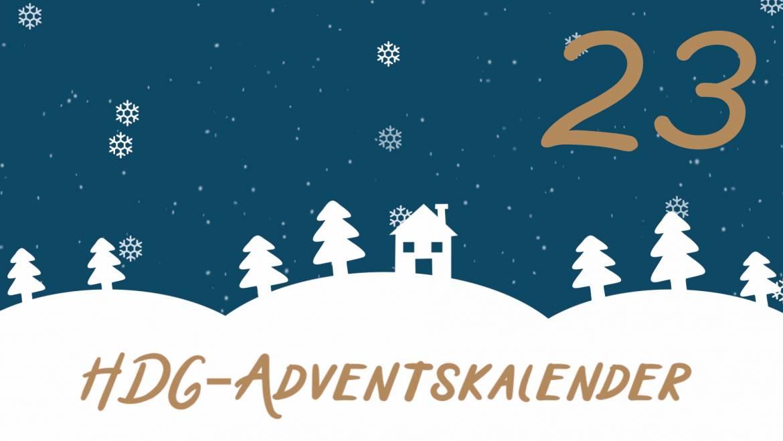 HDG-Adventskalender – Tür 23: Markus bringt unsere Christbäume